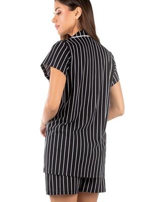 Πυτζάμα Γυναικεία MINERVA SWEET SUMMER - 100% Βαμβακερή - Κουμπιά - Smart Choice SS21