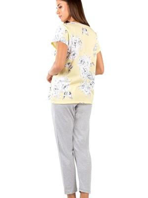 Γυναικεία Πυτζάμα MINERVA Papillion - Κάπρι Παντελόνι - 100% Βαμβακερή - Καλοκαίρι 2020
