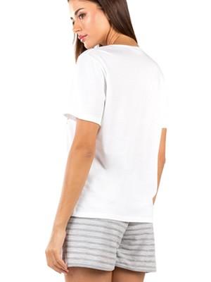 Γυναικεία Πυτζάμα MINERVA Sparkle - Απαλό Modal & Βαμβάκι - Lurex Σχέδιο - Καλοκαίρι 2020