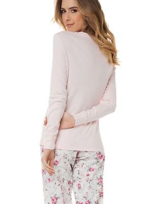 Πυτζάμα Γυναικεία MINERVA - 100% Βαμβάκι Interlock - Floral Παντελόνι - Χειμώνας 2020/21