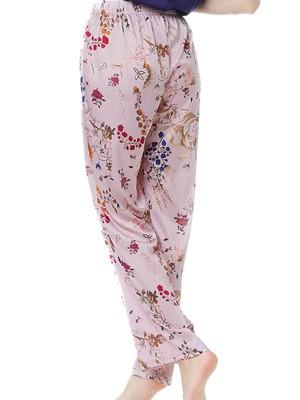 Γυναικείο Παντελόνι GOSSIP Αntoinette - Απαλό Σατέν - Floral Σχέδιο - Χειμώνας 2020/21