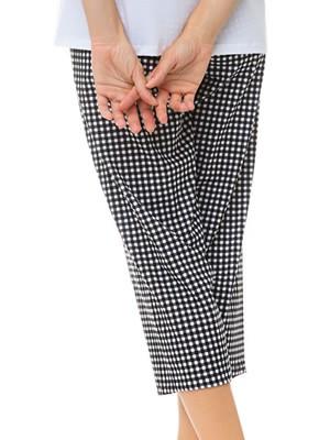 MINERVA Γυναικείο Παντελόνι Κάπρι - 100% Βαμβακερό - Καρό Σχέδιο - Καλοκαίρι 2021