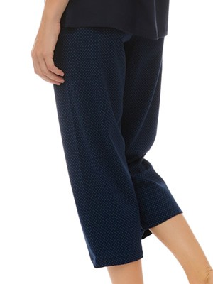 MINERVA Γυναικείο Παντελόνι Κάπρι - 100% Βαμβακερό - Dots Πουά - Καλοκαίρι 2021