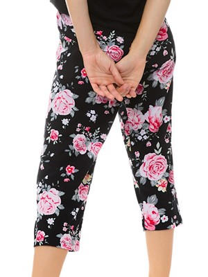 MINERVA Γυναικείο Παντελόνι Κάπρι - 100% Βαμβακερό - Floral Σχέδιο - Καλοκαίρι 2021