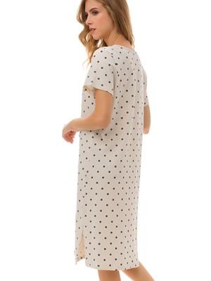 Γυναικείο Νυχτικό MINERVA Enjoy -100% Βαμβακερό - Dots Πουά & Δαντέλα - Καλοκαίρι 2021