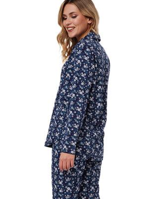 Πυτζάμα Γυναικεία MINERVA - 100% Βαμβάκι Interlock -Floral Σχέδιο & Κουμπιά - Χειμώνας 2021/22