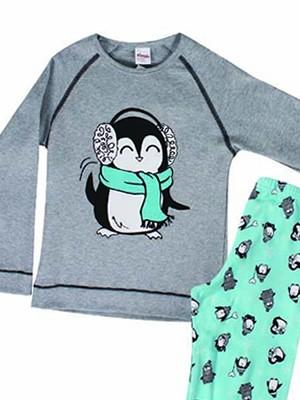 Παιδική Πυτζάμα Minerva Penguin - 100% Αγνό Βαμβάκι Interlock - Hot Pick 18-19