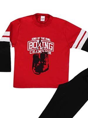 Παιδική Εφηβική Πυτζάμα Minerva Boxing Gloves - 100% Βαμβάκι Interlock - Hot Pick 2018-19