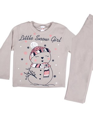 Παιδική Πυτζάμα MIERVA Little Snow Girl - Ζεστό & Απαλό Fleece - Χειμώνας 2020/21