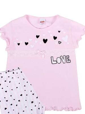 Παιδική Πυτζάμα MINERVA Love Lace - 100% Αγνό Βαμβάκι - Διακόσμηση Δαντέλας - Καλοκαίρι 2019