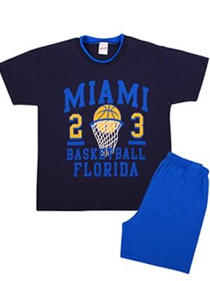 Παιδική Πυτζάμα MINERVA Miami Basketball - 100% Αγνό Βαμβάκι - Smart Pick SS20