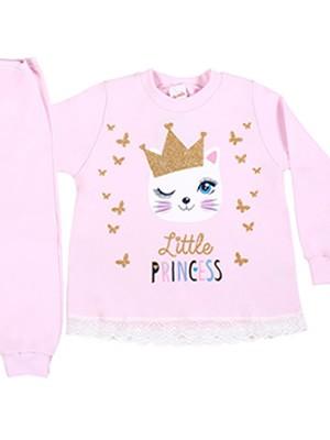 Βρεφική Πυτζάμα MINERVA για κορίτσι Baby Kitty Princess - 100% Βαμβάκι Interlock - Smart Choice FW20/21
