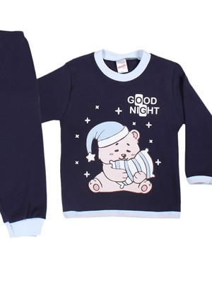 Βρεφική Πυτζάμα MINERVA για αγόρι Bear's Pillow - 100% Aγνό Βαμβάκι - Stay Home 2020