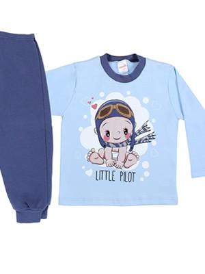 Βρεφική Πυτζάμα MINERVA για αγόρι Little Pillot - 100% Aγνό Βαμβάκι - Χειμώνας 2019/20