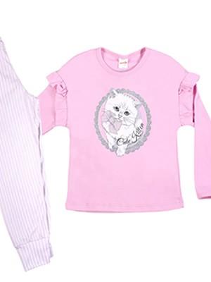 Παιδική Πυτζάμα MINERVA CUTE KITTEN  - 100% Αγνό Βαμβάκι Interlock - Χειμώνας 2019/20