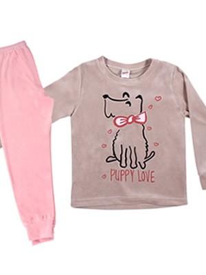 MINERVA Παιδική Πυτζάμα Puppy Love - Απαλό Βελούδο  - Smart Choice FW20/21