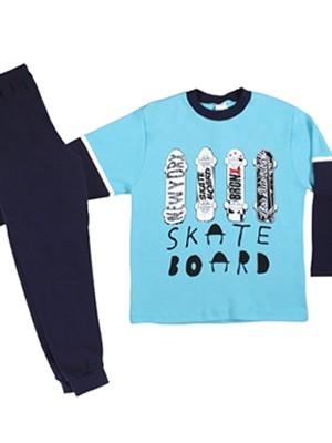 Παιδική Πυτζάμα MINERVA  Skate Board - 100% Aγνό Βαμβάκι - Back To School FW20/21