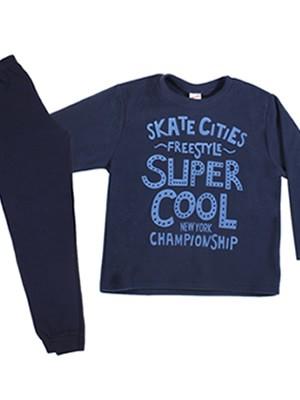 Παιδική - Εφηβική Πυτζάμα MINERVA Super Cool - Ζεστό Fleece - Back To School FW20/21