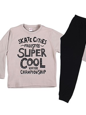 MINERVA Παιδική - Εφηβική Πυτζάμα Super Cool - Ζεστό Fleece - Back To School FW20/21
