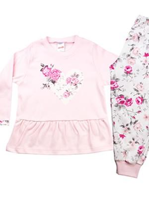 Βρεφική Πυτζάμα MINERVA για κορίτσι Pink Roses - 100% Βαμβάκι Interlock - Χειμώνας 2020/21