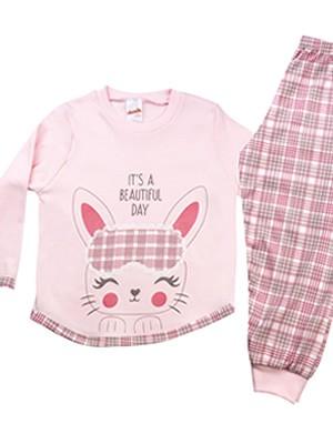 Βρεφική Πυτζάμα MINERVA για κορίτσι Rabbit - 100% Βαμβάκι Interlock - Χειμώνας 2020/21