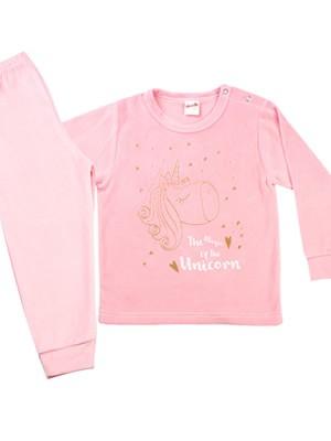 Βρεφική Πυτζάμα MINERVA Unicorn για κορίτσι - Απαλό Βελούδο - Χειμώνας 2020/21