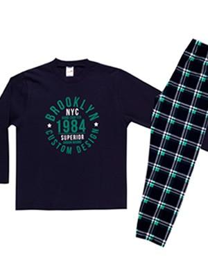 Παιδική Πυτζάμα MINERVA Brooklyn - 100% Aγνό Βαμβάκι - Χειμώνας 2020/21