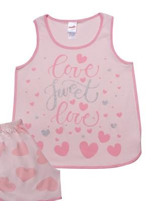 Παιδική Πυτζάμα MINERVA Love - 100% Αγνό Βαμβάκι - Καλοκαίρι 2021