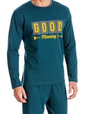 Ανδρική Πυτζάμα Minerva Good Morning - 100% Interlock Βαμβάκι - Χειμώνας 2018/19