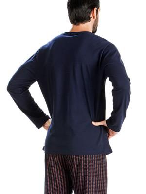 Ανδρική Πυτζάμα MINERVA Neck's Strong - 100% Βαμβάκι Interlock - All Over Σχέδιο - Hot Pick 19/20