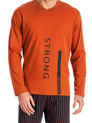 MINERVA Ανδρική Πυτζάμα Neck's Strong - 100% Βαμβάκι Interlock - All Over Σχέδιο - Hot Pick 19/20