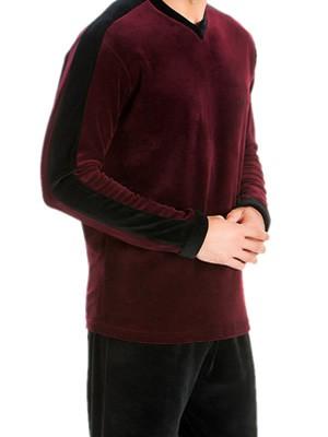 Ανδρική Πυτζάμα Πολυτελείας Minerva Velvet Superior - Απαλό Βελούδο - Χειμώνας 18/19