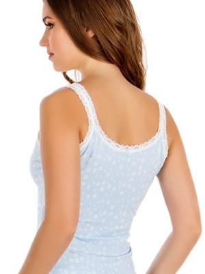 MINERVA Γυναικείο Top Fimelle Lace Trim 966 - Απαλό Modal & Δαντέλα