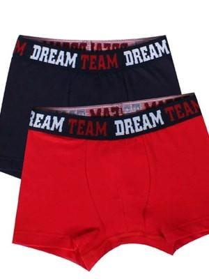 Παιδικό Εφηβικό Boxer Minerva DREAM TEAM - Αγνό Βαμβάκι - 2 PACK