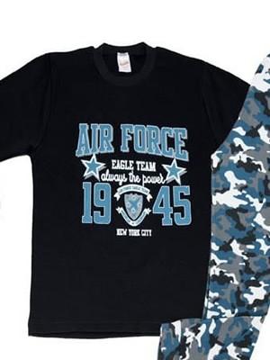 Παιδική - Εφηβική Πυτζάμα Minerva AIR FORCE - 100% Aγνό  Βαμβάκι  Interlock