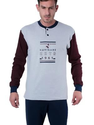 Ανδρική Πυτζάμα Homewear Navigare - Βαμβάκι Interlock - Χειμώνας 2018/19