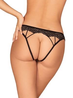 OBSESSIVE Meshlove Crotchless Panties - Lurex Σχέδιο - Χωρίς Καβάλο