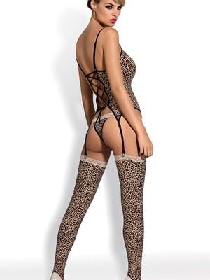 Obsessive JUNGIRL Set - Top Κάλτσες & String - Βελούδινη Αφή - Δαντέλα