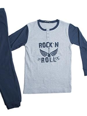 Παιδική - Εφηβική Πυτζάμα Point Service Rock 'N Roll - 100% Βαμβάκι Interlock - Χειμώνας 2018/19