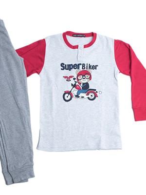 Παιδική Πυτζάμα για αγόρι Point Service Super Biker - 100% Βαμβάκι Interlock - Χειμώνας 2018/19
