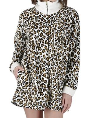 Γυναικεία Ρόμπα RACHEL - Ζεστό & Απαλό Fleece - Animal Print - Smart Choice FW20/21
