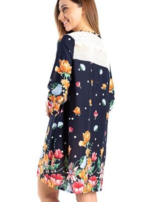 Φόρεμα Beachwear RACHEL - Αέρινο Viscose - Floral Σχέδιο - Καλοκαίρι 2021