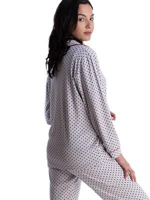 Πυτζάμα Γυναικεία RACHEL - Γεμάτο Βαμβάκι-All Over Σχέδιο & Κουμπιά - Χειμώνας 2021/22