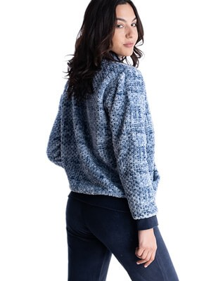Γυναικεία Πυτζάμα RACHEL - Ζεστό & Απαλό Fleece - Πλεχτό Look - Χειμώνας 2021/22