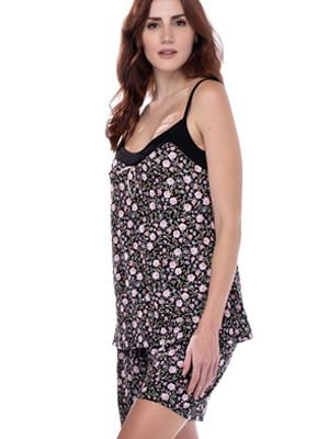 Babydoll SECRET POINT - Απαλό Viscose - Floral Σχέδιο - Καλοκαίρι 2021