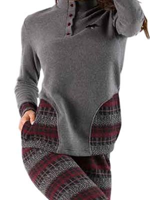 Πυτζάμα Γυναικεία Venere - Ζεστό Fleece Βαμβάκι - Ethnic Σχέδιο - Χειμώνας 2018/19