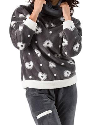 Πυτζάμα Γυναικεία Venere - Απαλό Fleece - Αξεσουάρ για το Λαιμό - Χειμώνας 2018/19