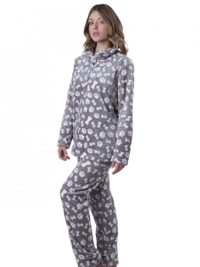 Πυτζάμα Πολυτελείας Kare - Ζεστό Fleece - All Over Σχέδιο - Χειμώνας ... 7a88517f626