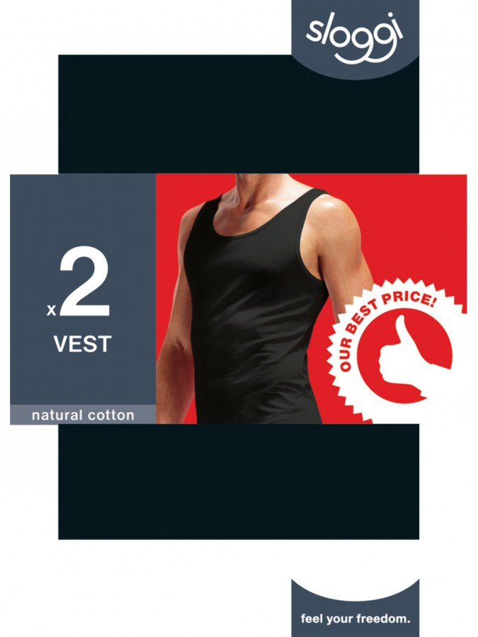 f22378a8e215 Περισσοτερες Οψεις. SLOGGI 24/7 SH02 Vest - Αντρική Φανέλα με Τιράντα - Ελαστικό  Βαμβάκι - 2